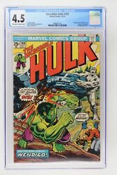 Incredible Hulk 180 - Marvel 1974 Cgc 4.5 1st Appearance Of Wolverine In Cameo