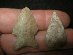 2 Authentic Central Texas Arrowheads Ancient Indian Artifacts Free Shipping Cr8