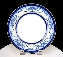 Burgess And Leigh Middleport Pottery Belvoir 8 Flow Blue Salad Plate 1912-1919