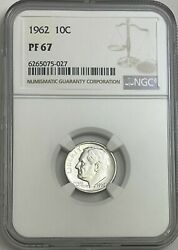 1962 Ngc Pf67 90 Proof Silver Roosevelt Dime 10c Great Eye Appeal Uncirculated