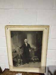 George W. Engraving Published By William Plate New York 1852 Water Damage