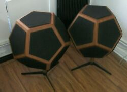 Vintage Pair Of Design Acoustic D-12 Dodecahedron Working Ex Condition