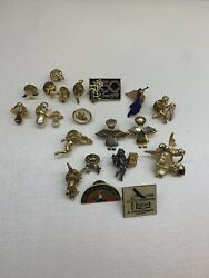 Religious Pins, Tie Tacks, Lapel Pins Clips - Some Vintage - Mixed Lot Of 21