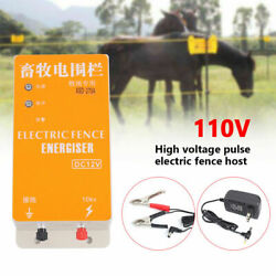 Fence Charger High-voltage Pulse Solar Electric Ranch Fence Energizer 110v