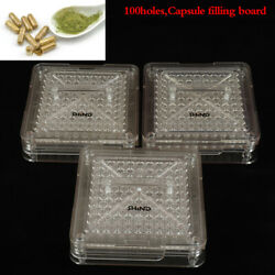 3 Size Capsule Machine Empty Capsules Filler Pill Filling With Tamper 100 Holes.