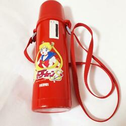 Sailor Moon Thermos Water Bottle Red Rare Vintage Japan