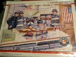 Lionel Train Catalog Angela Trotta Thomas Cover Art Is Hand Signed Fdny Nypd