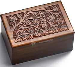 Star India Craft Urns For Human Ashes Adult Rosewood Cremation Urns For Ashes