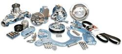 Ems Serpentine Pulley Kit Sb Chevy No Ac Billet Reservoir Clearc Ms107-57bcl