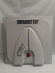 Transpec T1676 Bus Shuttle Vent Emergency Exit Hatch W/fan And Outer Handle Gray