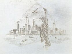American Bank Note Company United States Printing Plate Statue Of Liberty