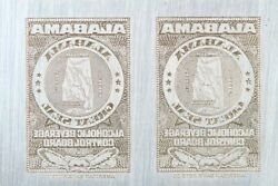 American Bank Note Company Alabama Printing Plate - Abnc Stamp Plate
