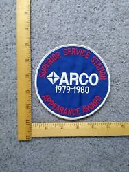 1 Rare Superior Service Station Arco Gas Oil 1979-1980 Appearance Award Patch