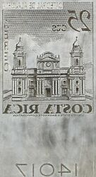 American Bank Note Company Costa Rica Printing Plate C-455 Cathedral