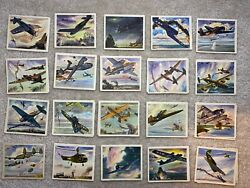 1943-45 Coca-cola Wwii American Airplanes Card Lot Of 20