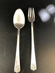 Wm Rogers And Sons Is Andldquoaprilandrdquo Silver Plate Spoon And Fork