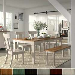 Elena Antique White Extendable Rectangular Dining Set With Red Chairs 5-piece Se