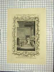 Old Antique Print Duke Queensferry Dover Act Union Queen Anne Engraving