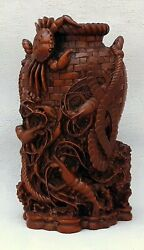 Chinese Crab Shell Sculpted Asian Art