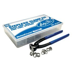 Motion Pro Stepless Clamp Fuel Line Fittings Kit W Pincer Tool
