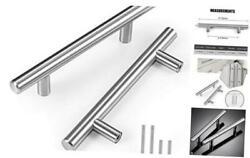 Pack 6 Inch Cabinet Pulls, Stainless Steel Drawer 3 1/2 Inch Hole Center 15