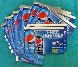 52 - Pepsi Cola Or Mtn Dew - 12-pack Of 12-oz Cans - Coupons - Diet Ok