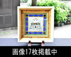 M. Ozawa Acrylic Christmas Original Picture On The Back Of Forehead Autograph