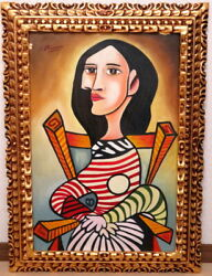 Pablo Picasso Woman Sitting Musandeacutee Dand039orsay Sticker Gallery Seal Autograph By The
