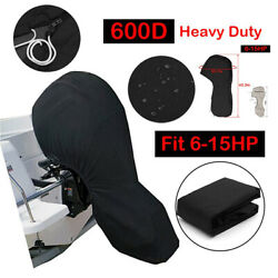 600d Black Boat Motor Full Outboard Engine Cover Fits Up To 150hp Waterproof