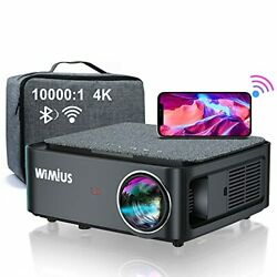 5g Wifi Bluetooth 4k Projector, Wimius K1 Video Projector Native 1920x1080 Led P
