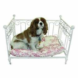 Antique White Iron Pet Day Bed Small