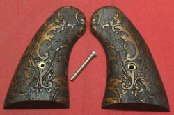 Colt Firearms Python / Officers Model / Official Police Scroll Pattern Grips