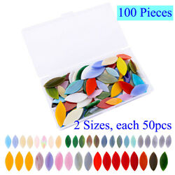 100 Pieces Assorted Colors Petal Mosaic Tiles Stained Glass For Arts Decoration