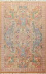 Vegetable Dye Floral Nepalese Oriental Area Rug Hand-knotted Large Carpet 10x14