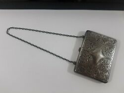 Antique Blackinton Sterling Silver Coin Purse Beautiful Filligree Monogramed