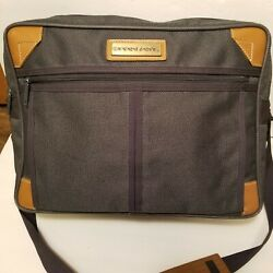 Vintage Pan Am Airlines Green Flight Carry On Bag Tote Luggage Briefcase