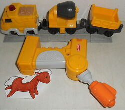 Fisher Price Geotrax Mix 'n Work Construction Crew Remote Control Train Set