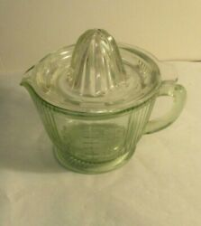 Vintage Anchor Hocking Glass.pink Glass Reamer And 2 Cup Ribbed Measuring Cup