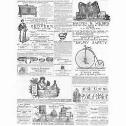Victorian Adverts Lawn Mowers Bridal Bouquets Cycles - Antique Print 1885