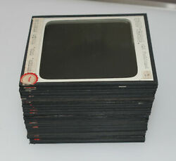 Lot Of 24 Oyster Fishing And Whale Hunting Ships Etc Magic Lantern Glass Slides