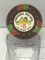 Vintage 1969 Caesarandrsquos Palace 5 Casino Chip 3rd Edition Extremely Rare