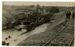 Old Postcard Newport Dock Disaster Mon. South Wales Note Railway Real Photo 1909