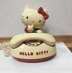Hello Kitty Vintage Home Telephone Old Fashioned Used From Sanrio Japan