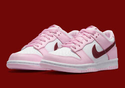 Nike Dunk Low Gs Pink Foam Dark Beetroot White Cw1590-601 Youth Sizes 4y-7y New