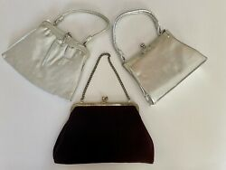 Mixed Lot of Evening Vintage Modern Clutch Bags Preowned $16.99
