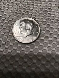 Kennedy Half Dollar 1972 D With Damage On The Face Double Struck