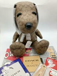 Coach X Peanuts Snoopy Limited Leather Plush Doll From Japan Free Shipping