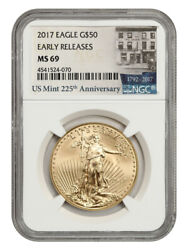 2017 Gold Eagle 50 Ngc Ms69 Early Releases - American Gold Eagle Age