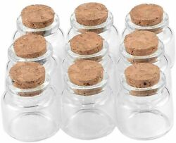 30x30x17mm 10ml Transparent Small Glass Bottle With Cork, Empty Vial Clear Bott