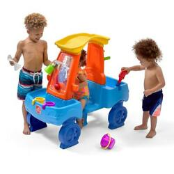Step2 Car Wash Splash Center Water Table Activity Toy For Multiple Kids Fun Play
